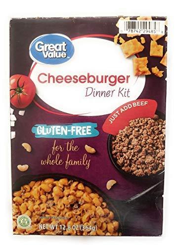 Great Value Gluten-Free Cheeseburger Macaroni Dinner Kit, 12.8 oz