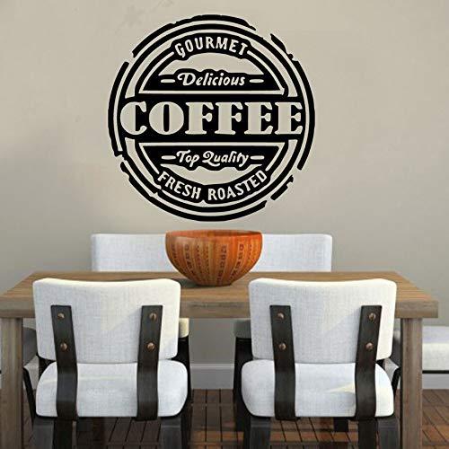 Pegatina de pared de café fresco, refranes de cocina deliciosos, calcomanía de vinilo para ventana, cafetería, cafetería, interior, Art Deco, letrero, Mural