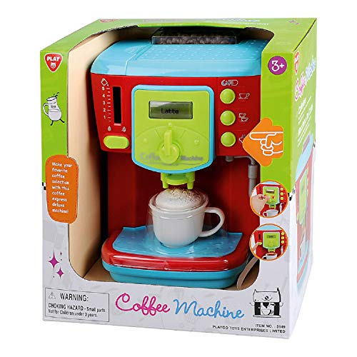 Bavaria-Home-Style-Collection Deluxe Kinder Kaffeemaschine - Küchengerät - mit Licht und Sound - für Spielküche Zubehör - Geschenkidee Geburtstag , Ostern , Weihnachten - ab 3 Jahre