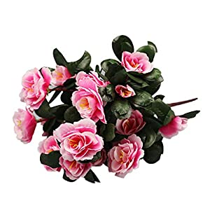 Artificial Flowers Expxon – Silk Rhododendron Real Touch Perfect for Home Decor, Bouquet, Wedding, Parties, Offices, Restaurants