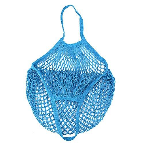 Netz Einkaufstasche Wiederverwendbar Mesh Einkaufen Tote Handtasche Tragbar Einkaufsnetz Veranstalter für Einkaufen Strand Obst Gemüse Aufbewahrung Gemüsebeutel