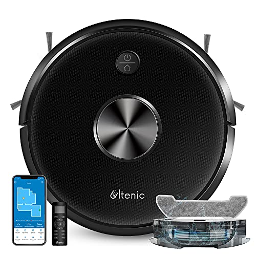 Ultenic D5s Pro Robot Vacuum Cleaner with Mop, 2500Pa Suction, Wi-Fi Connected, Quiet, Super-Thin, Alexa, App Control, Boundary Strips, Self-Charging Robotic Vacuum for Pet Hair Hard Floor Carpet
