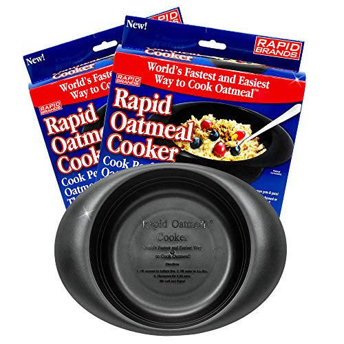 Rapid Oatmeal Cooker   Microwave Instant or Old-Fashioned Oats in 2 Minutes   Perfect for Dorm,...