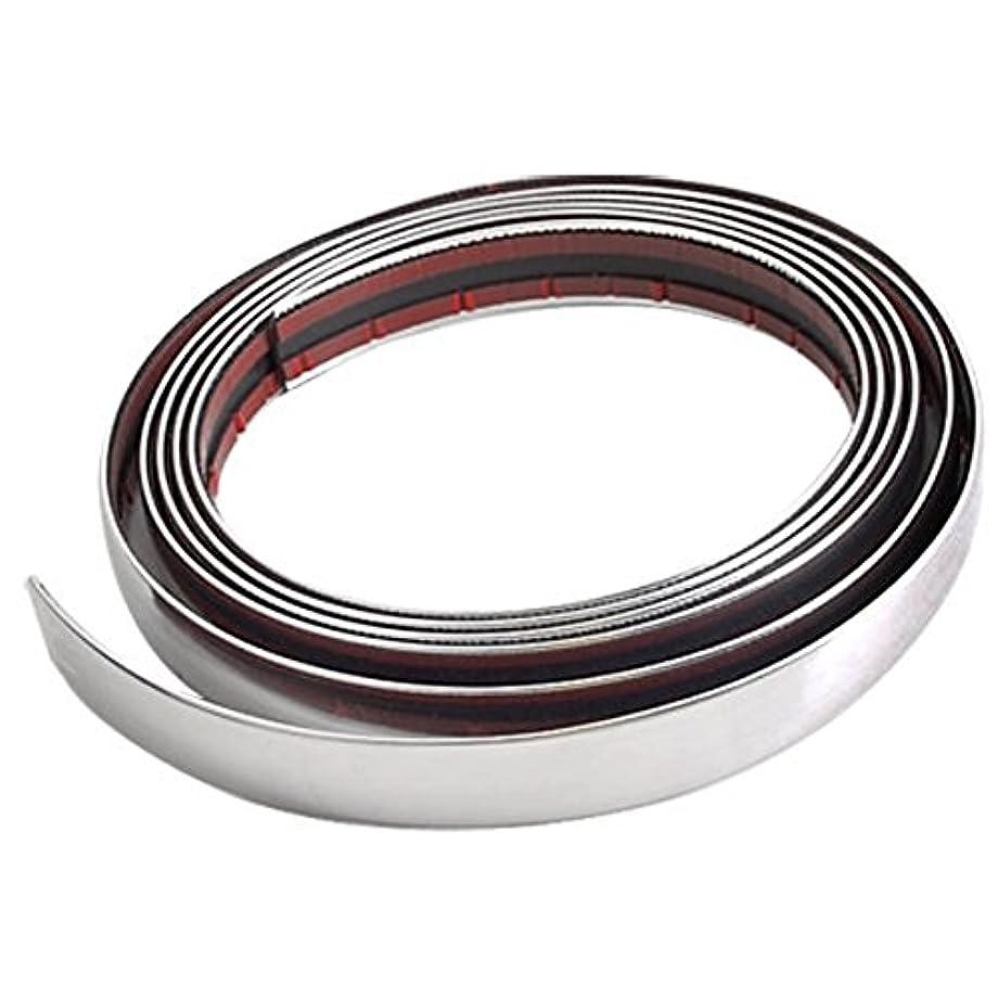 Tinksky 3m21mm Flexible Auto Car DIY Chrome Moulding Trim Strip Protector Bumper Guard for Window Bumper Grille (Silver)