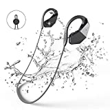Bluetooth Wasserdichte Kopfhörer 8GB MP3-Player, GogoTool Bluetooth 4.1 IPX8 Wireless Super Bass In Ear Sport Sweatproof HiFi Stereo-Ohrhörer Integrierte Mikrofon mit Noise Cancelling Tech - Schwarz