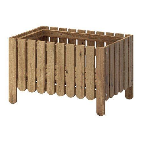 IKEA Askholmen - Blumenkasten, graubraun gebeizt grau-braun - 94x91x44 cm