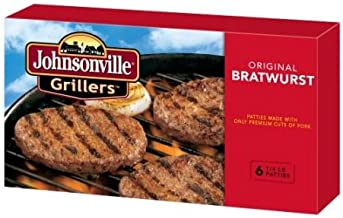 Johnsonville Original Bratwurst Patty, 24 Ounce -- 9 per case.