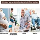 Greensen Toilettengestell Toiletten Aufstehhilfe Sichere WC Stützhilfe Rutschfest Sicherheitsgestelle Badezimmer WC Aufstehhilfe mit Holz Haltegriff Toilettenstützstange für Senioren und Deaktiviert - 4