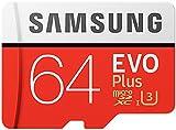 Samsung EVO Plus Micro SDXC 64 Go jusqu'à 100 Mo / s, Carte mémoire ( l'adaptateur...