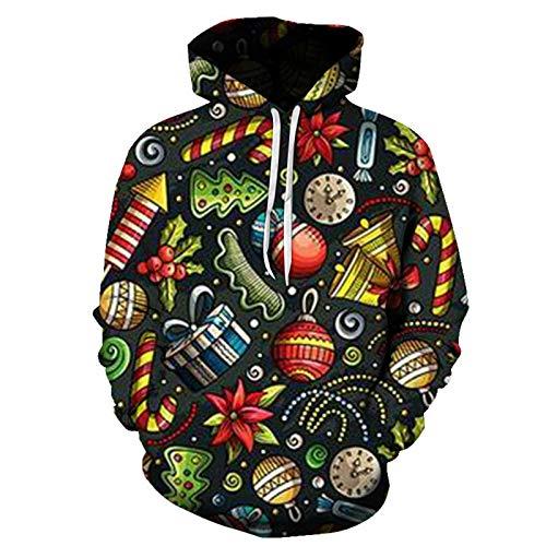 Mr.BaoLong&Miss.GO Otoño E Invierno Chaqueta De Suéter con Estampado Navideño para Hombres Camiseta De Manga Larga Suéter De Cuello Alto Sudadera De Pareja