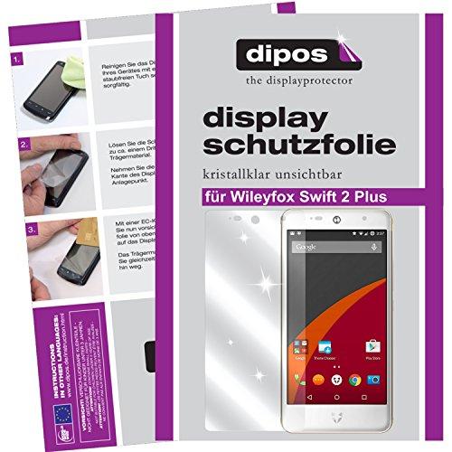 dipos I 6X Schutzfolie klar kompatibel mit Wileyfox Swift 2 Plus Folie Bildschirmschutzfolie