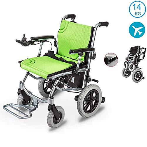Elektrorollstuhl Faltbar, 360 ° Joystick Lithiumbatterie Elektro Mobilitätshilfe Elektrischer Rollstuhl, Medizinischer Leichte Roller,Tragbare Ältere Behinderte Hilfe Auto,Kann ins Flugzeug steigen