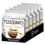 Tassimo Jacobs Cappuccino, Paquete de 5, 5 x 16 T-Discs (40 Tazas)