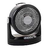 Iris Ohyama, ventilatore silenzioso con oscillazione - Woozoo - HM23, plastica, nero, 33 W, 33 m²,...