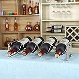 BGHDIDDDDD Novedad - Botellero para botellas, portabotellas, portabotellas, portabotellas, portabotellas de acci