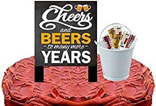 Alcohol Lovers Cake/Food/Cupcake Birthday Party Decoration Topper Picks (6pack Beer Cans)