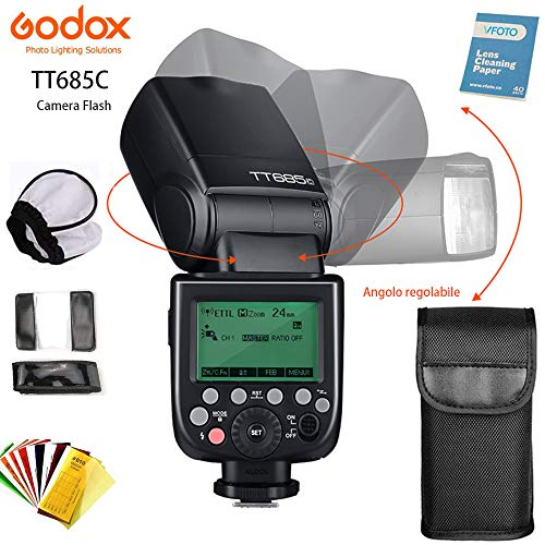 Godox TT685C TTL Flash Camera 2.4G HSS High Speed 1 / 8000s GN60...