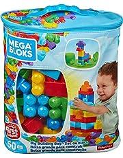 Mega Bloks DCH55 Big Building Bag, Blue, 60 Pieces