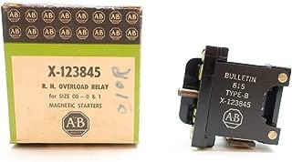 ALLEN BRADLEY X-123845 Magnetic Starter Overload Relay Size 00-0&1