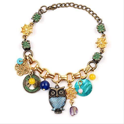 Mode Gold Farbe Eule Armband Für Frauen Sie Sind Mein Besonderer Engel Bunter Schmuck Weibliche Partyzubehör Geschenke Für Mädchen