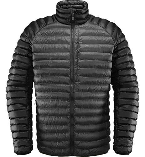 Haglöfs Winterjacke Herren Winterjacke Essens Mimic Wärmend, Atmungsaktiv, Wasserabweisend Magnetite/True Black S S