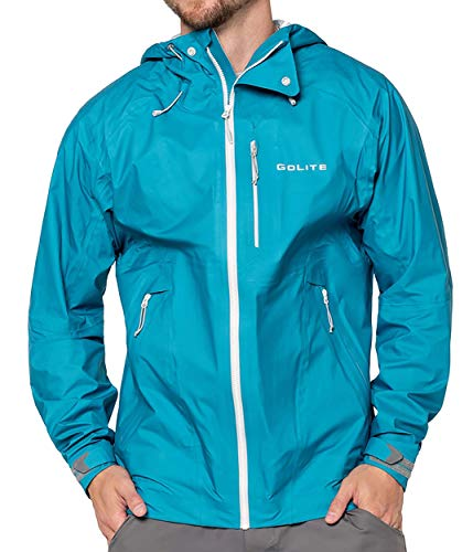 GoLite Men's Pinnacle Pro 3-Layer Rain Jacket , arctic , Large