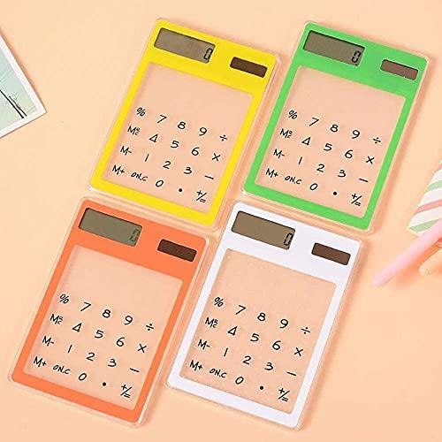 zhaita Calculadora científica clara, mini papelería creativa caramelo de energía solar delgada LED para el cálculo de la escuela de la oficina, 1PC
