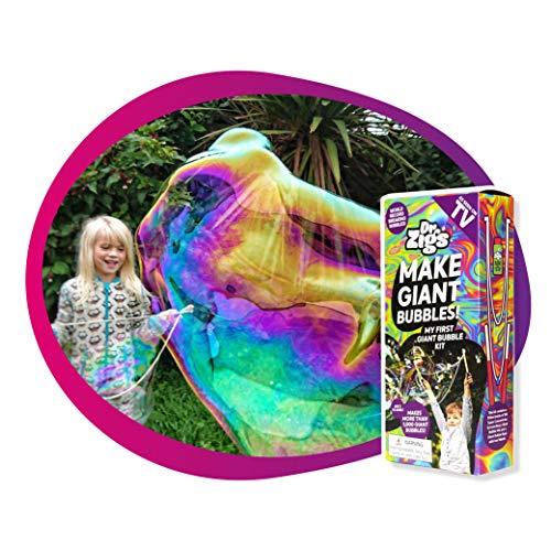 Dr Zigs Giant Bubbles Kits - Meilleur Ensemble de Fabrication de Bulles énormes, Jouets de Jardin Amusants pour Enfants, Tout-Petits et Adultes… (Starter Kit)