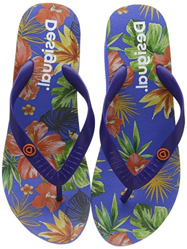 Desigual Damen Shoes LOLA Tropical Zehentrenner, Blau (Azul Lovely 5099), 39 EU