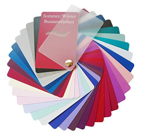 Farbpass Business Sommer/Winter Mischtyp (cool Summer/Winter) als Fächer mit 34 typgechten Farben zur Farbanalyse, Farbberatung