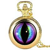Clásico retro Reloj de bolsillo retro para hombre púrpura...