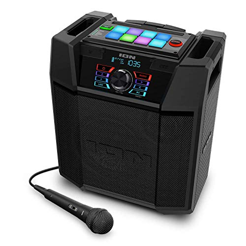 ION Explorer FX High-Power Bluetooth Speaker with Sound Effects IPX4 Water-Resistant (Renewed)