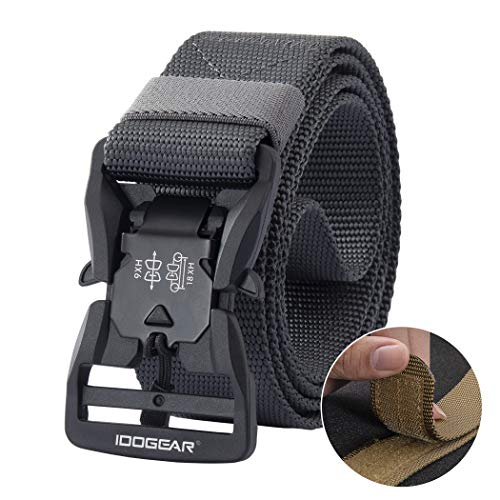 "Check Out This IDOGEAR Tactical Belt with Magnetic Quick-Release Buckle Military Style 1.5"" Nylon ..."