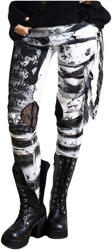 Leggings Y Medias Deportivas Mujer Pantalones Mallas Pantalones Frescos Para Mujer Leggings Con Corbata Punk Desgastada Pantalones Gym Yoga Cintura Alta Pantalones Deportivos Mujer Pitillo Elasticos Lonshell Ropa Mk Primaria Ro