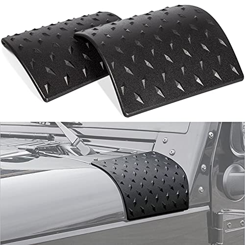 Danti Black Cowl Body Armor Outer Cowling Cover Corner Guard Fits for Jeep Wrangler Rubicon Sahara Jk Unlimited 2007-2018(pack of 2)