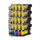 16 cartuchos de tinta compatibles con ECS para Brother DCP-J132W DCP-J152W DCP-J552DW MFC-J650DW DCP-J752DW DCP-J4110DW MFC-J870DW MFC-J44510DW MFC-J4610DW MFC-J4710DW MFC-J4710DW MFC-J470DW MFC-J470DW MFC-J470DW