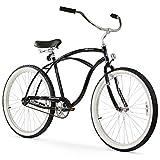 Firmstrong Urban Man Beach Cruiser Bike, Mens Bicycle 26-Inch, 1-Speed, Black