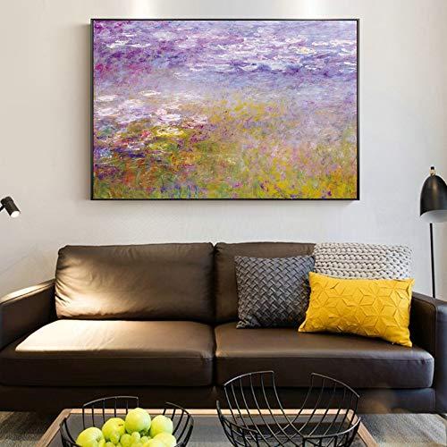 LiMengQi Mordern Estilo minimalista lienzo pintura pared Cuadros para sala de Estar Moda espacio...