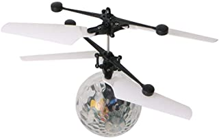 Mini Flying RC Ball, DOWIN Crystal Hand Suspension Helicopter Aircraft Infrared Sensing Induction Disco Lighting Bird Toy ...