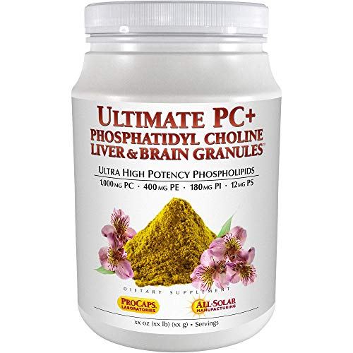 Andrew Lessman Ultimate PC+ Phosphatidyl Choline Liver & Brain Granules 180 Servings – Ultra High Potency Phospholipids. Most Important Building Block for Healthy Liver & Brain Structure and Function