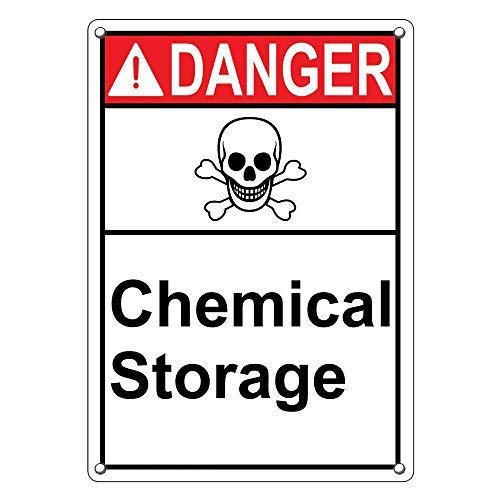 No dream Tin Sign Warning Sign Danger Chemical Storage Sign Room Metal Poster Wall Decor