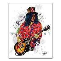 Ipea スラッシュガンズローズベルベットリボルバーミュージックギターキャンバス絵画壁アートポスターHdプリントリビングルームの家の装飾-50X70Cmフレームなし