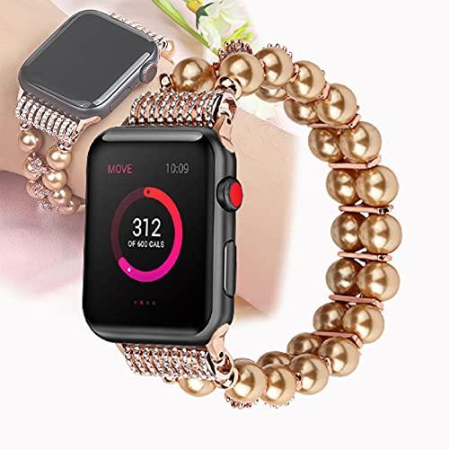 Pulsera De Cuentas Apple Watch Band 38 mm / 40 mm, 42 mm / 44 mm Correa De Reloj para Mujeres Hombres - Apple Iwatch Series 6/5/4/3/2/1 / SE,42mm/44mm