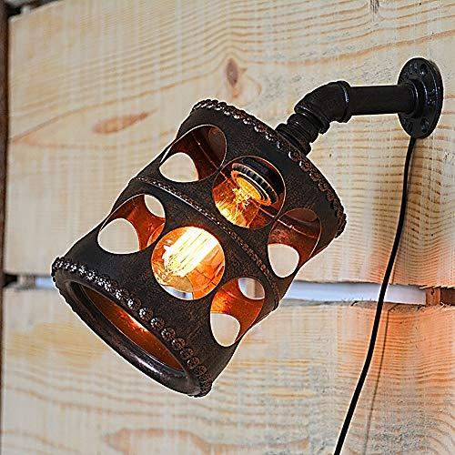 MJZHJD Tubo Hecho a Mano Retro Craft Europea Hueco Exquisito café de la Barra de luz del Ministerio del Interior de Pared de Metal de la lámpara Luz de Pared