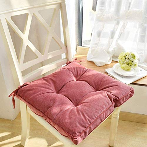 Jacquelyn Cojines para Silla Copetudo Espesar Suelo Almohada sólido Asiento Cojín Cuadrado Suave Pana Pad Chair Almohadillas para sillas (Color : Pink, Size : 30x43cm(12x17inch))