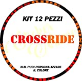 Ecoshirt KV-543H-ZXHK Pegatinas Llanta Mavic Crossride Am15 A Adesivi Decal Aufkleber MTB Stickers Bike, Naranja 26' y 27.5'