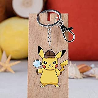5 Style Cartoon Cute Detective Keychain Acrylic Double Sided Print Figures Key Ring Pendants Keyrings Children Toys Cool Must Haves 1 Year Old Girl Gifts Favourite Movie Superhero Party Favors