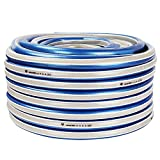 JonesHouseDeco 50M Heavy-Duty Verstärkte 4-lagige PVC-Gartenschlauchleitung 3/4'' Blau-Weiß für Gartenbewässerung, Haustierbewässerung, Hausreinigung