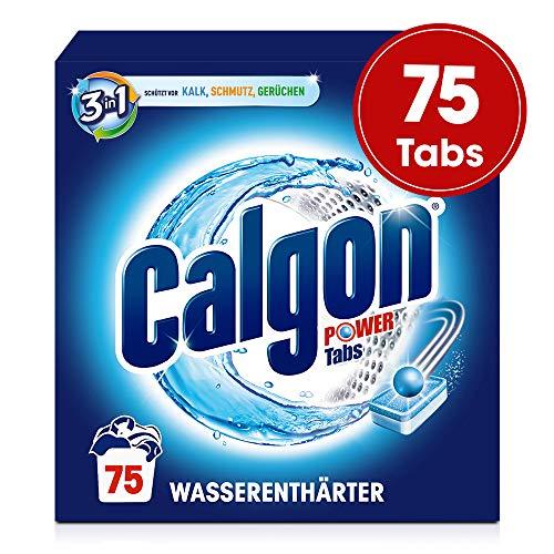 Calgon 3in1 Tabs, Wasserenthärter gegen Kalk und Schmutz in der Waschmaschine, 75 Tabs