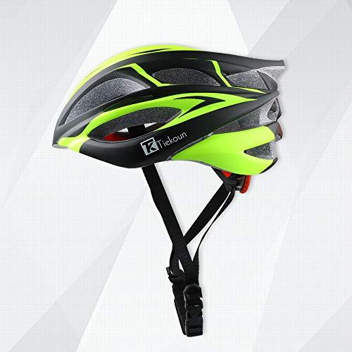 Tiekoun Safety Breathable Lightweight Bike Cycling Helmet, Adjustable Size Road Mountain Bike Helmets for Adults, M (54-58CM)